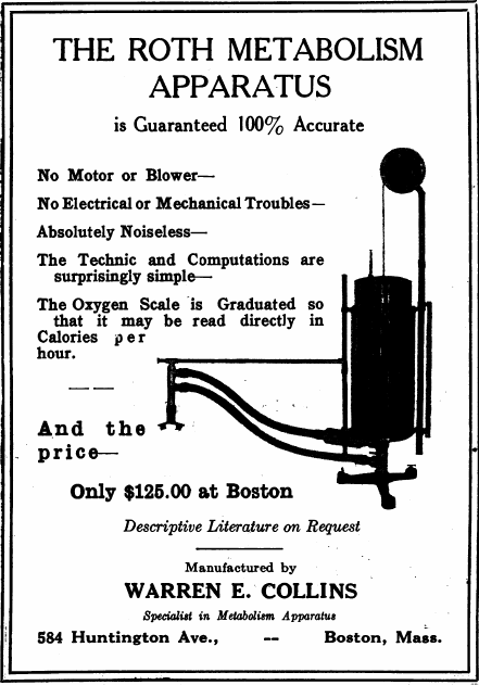 Collins_Roth_Spirometer_Advertiesement_1924_Can_Med_J