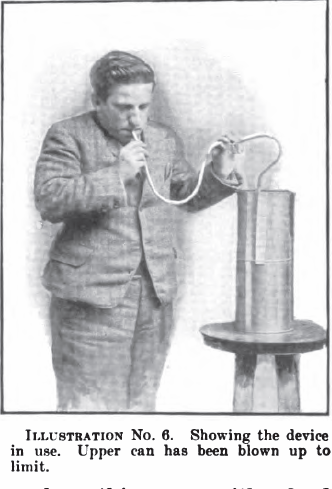 Spirometer_Home-Made_1904_in_use