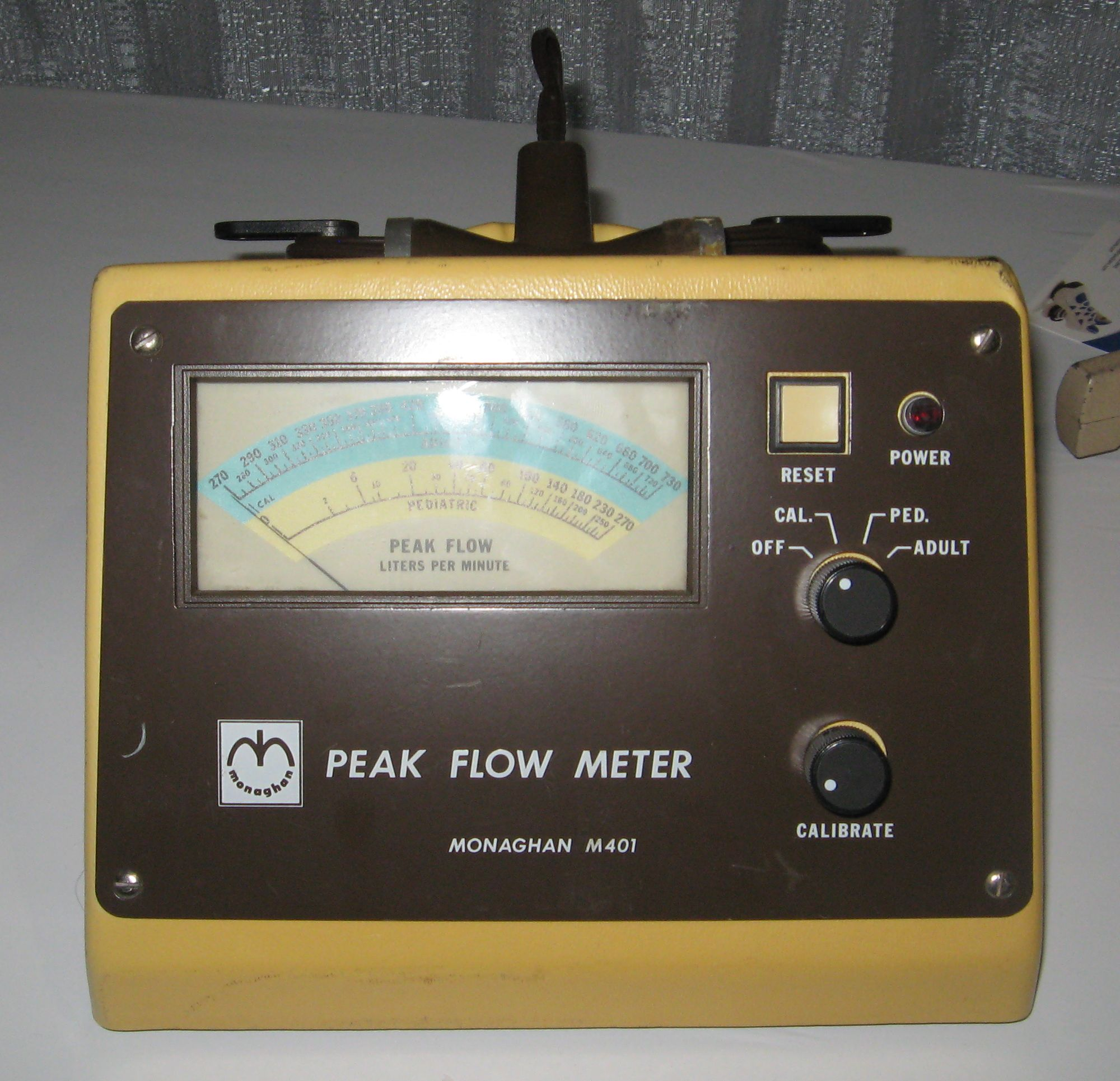 Monaghan_Model_M401_Peak_Flow_Meter