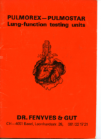 Fenyves & Gut PFT Brochure circa 1970