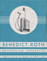 Collins Benedict-Roth Metabolism Apparatus Sales Brochure – 1949