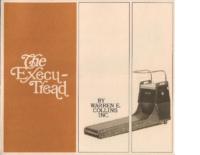 Collins Execu-Tread Treadmill Brochure circa 1970