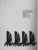 Instruction Manual for the Collins Body Plethysmograph System – 1975